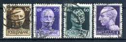 1944 LUOGOTENENZA SET USATO 516/519 Filig. Corona - 1944-46 Lieutenance & Humbert II