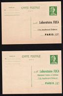 FRANCE: RARE Lot De 2 Entiers Postaux Neufs, Type Carte Postale 12F Vert Marianne De Muller............ - Entiers Postaux