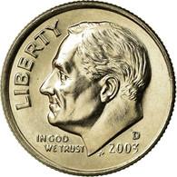 Monnaie, États-Unis, Roosevelt Dime, Dime, 2003, U.S. Mint, Denver, SPL - Émissions Fédérales
