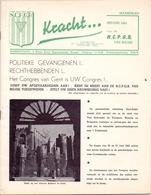 Magazine Tijdschrift - Kracht - Programma Congres Politieke Gevangenen - Gent 1953 - Oorlog 1939-45