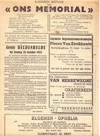 Magazine Tijdschrift - Ons Memoriaal - Grote Heldenhulde Gent 1953 - Pub Reclame - Oude Documenten