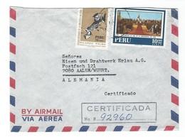 COVER CORREO AEREA - PEROU - LIMA - AALEN - WUERTT - ALEMANIA.- CERTIFICADA - 1971. - Peru