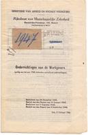 Wetten , Decreten - Ministerie Van Arbeid - Onderrichtingen Aan De Werkgevers - 1946 - Wetten & Decreten