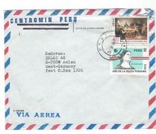 COVER CORREO AEREA - PEROU - LIMA - AALEN - WEST GERMANY. - Peru