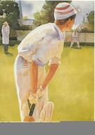 JEU DE CRICKET, UNIFORME ET BANQUES COMMERCIALES : Illustration De Mark Entwisle. CPSM. - Cricket