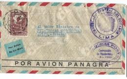 COVER CORREOS  PEROU - POR AVION PANAGRA - LIMA - QUITO - ECUADOR - 1934. - Peru