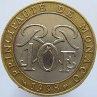 Monaco 10 Francs 1998 VF / XF - Monaco