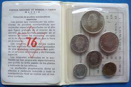 Spain 50 Centimos 1 - 100 Pesetas 1976 PROOF Set - Sets Sin Usar &  Sets De Prueba