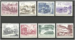 Austria 1964 World Congress, Wien, Horses, Transport, Mi 1156-1163 MNH(**) - 1945-.... 2. Republik