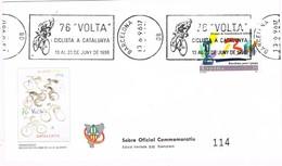 34886. Carta BARCELONA 1996. 78 Volta Ciclista Catalunya. CICLISMO Rodillo - 1931-Hoy: 2ª República - ... Juan Carlos I