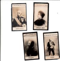 Lot 4 Images Collection Felix Potin : Général Billot, Mathilde Sérao, Makharoff, Laugier - Félix Potin