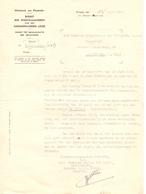 Brief Lettre - Oorlog - Belgisch Gedemobiliseerd Leger - Dienst Betalingen - Brussel 1942 - Oude Documenten
