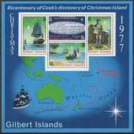 Black19-001 MINT ¤ GILBERT ISLANDS 1977 BLOCK ¤ VOILIERS - ZEILSCHEPEN - SHIPS - - Maritiem