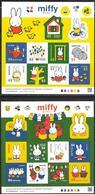 JAPAN, 2019, MNH, CARTOON, MIFFY, BICYCLES, RABBITS, BIRDS, RABBITS,  2 SHEETLETS - Childhood & Youth