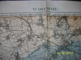 Carte Topographique De Waremme - Borgworm (Montenaeken Limont Donceel Jehay Engis Marneffe Ciplet Forville) - Cartes Topographiques