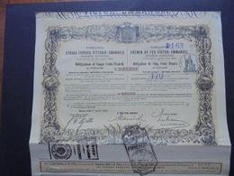 ITALIE - ROMA 1907 - CIE DU CHEMIN DE FER VICTOR-EMMANUEL - OBLIGATION 500 FRS - BELLE DECO - TITRE RECOUPONNE - Azioni & Titoli