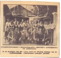 Orig. Knipsel Magazine - Studentengroep Meetjesland Leuven Te Assenede - Oude Documenten