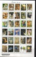 BRAZIL , 2018, MNH, UPAEP, DOMESTIC ANIMALS, DOGS, CATS, FISH, RABBITS, BIRDS, PARROTS, SHEETLET OF 30(!)v - Dogs