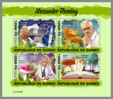GUINEA REP. 2019 MNH Alexander Fleming Mushrooms Pilze Champignons M/S - OFFICIAL ISSUE - DH1949 - Medicina