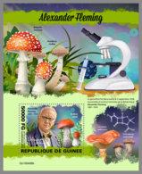 GUINEA REP. 2019 MNH Alexander Fleming Mushrooms Pilze Champignons S/S - OFFICIAL ISSUE - DH1949 - Medicina