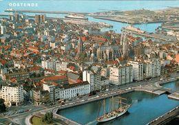 1 AK Belgien * Blick Auf Die Stadt Ostende (Oostende) - Luftbildaufnahme * - Oostende
