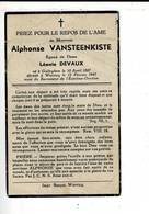 DP 8910 - ALPHONSE VANSTEENKISTE - GULLEGEM 1887 + WERVICQ 1947 - Imágenes Religiosas
