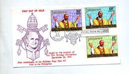 Lettre Fdc 1972 Pape - Filippijnen