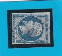N° 14 Ba Bleu Sur Vert   PC 200  AUXON (9) AUBE    - REF 9712 - 1853-1860 Napoléon III.