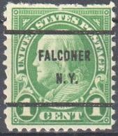 USA Falconer N.Y. - Falconry - Precancel - Stamps