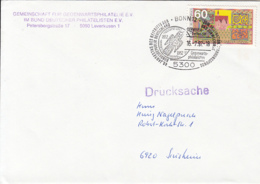 84013- LEIPZIG BOTANICAL GARDEN STAMPS ON COVER, BONN PHILATELIC EXHIBITION SPECIAL POSTMARK, 1992, GERMANY - Storia Postale