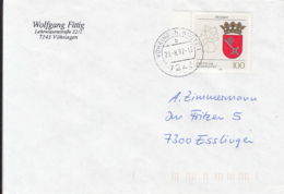 84032- BREMEN COAT OF ARMS STAMPS ON COVER, 1992, GERMANY - [7] Repubblica Federale