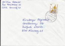 84035-RUSSIAN CHURCH STAMPS ON COVER, 1992, GERMANY - [7] Repubblica Federale