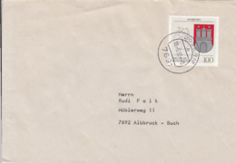 84036- HAMBURG COAT OF ARMS STAMPS ON COVER, 1992, GERMANY - [7] Repubblica Federale