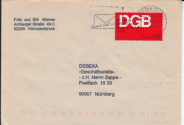 84095- TRADE UNION ANNIVERSARY STAMP ON COVER, 1999, GERMANY - [7] Repubblica Federale
