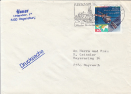 84100- EUROPA CEPT, SATELLITE STAMPS ON COVER, REGENSBURG SPECIAL POSTMARK, 1991, GERMANY - [7] Repubblica Federale