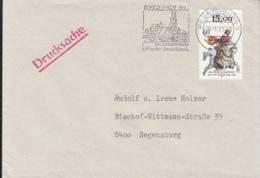 84101-JAN VON WERTH STAMPS ON COVER, REGENSBURG SPECIAL POSTMARK, 1991, GERMANY - Storia Postale
