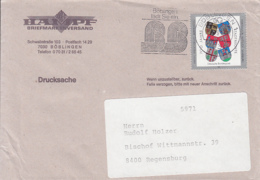 84106- STATES COAT OF ARMS STAMPS ON COVER, BOBLINGEN SPECIAL POSTMARK, 1991, GERMANY - Storia Postale