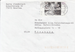 84109- OTTO PANKOK STAMPS ON COVER, 1993, GERMANY - Storia Postale