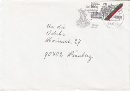 84110- COBURG MONASTERY STAMPS ON COVER, BAD FUSSING SPECIAL POSTMARK, 1993, GERMANY - [7] Repubblica Federale