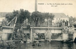 51  FISMES   LE PONT DE FISMETTE RETABLI  PAR  LE GENIE EN 1916 - Fismes
