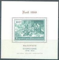 REPUBLIQUE RWANDAISE - 1968 - MNH/*** - CHRISTMAS GIORGIONE - COB BLOC 16 Yv BLOC 16 - Lot 20740 - 1962-69: Neufs