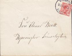 Denmark Brotype IIb NYKJØBING FALSTER 'Petite' 1916 Cover Brief BJERRINGBRO Svineslagteri Pork Slaughter House (Arr.) - 1913-47 (Christian X)