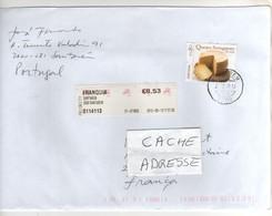 """Beau Timbre , Stamp  """" Fromage """" Sur Lettre , Mail ,  Cover , Du 13/09/2012 - 1910-... República"""