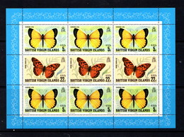 BRITISH  VIRGIN ISLANDS    1978    Butterflies    Sheetlet    MNH - British Virgin Islands