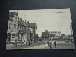 Belgique  België  ( 1812 )  De Haan   Coq Sur Mer   Rue De L' église Et Hôtel Belle Vue - De Haan
