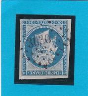 N° 14 B   PC  3030 SAINT-CLAUDE Sur BIENNE (38) JURA   - REF 9712 + Variété - 1853-1860 Napoleon III