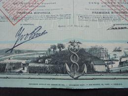 PORTO-RICO , MADRID 1888 - CIE DES CHEMINS DE FER DE PORTO-RICO - OBLIGATION DE 500 FRS - BELLE ILLUSTRATION - Actions & Titres