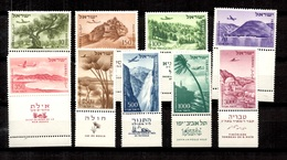 Israël Poste Aérienne YT N° 9/17 Avec Tabs Neufs ** MNH. TB. A Saisir! - Poste Aérienne