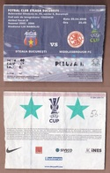 AC -  STEAUA BUCURESTI Vs MIDDLESBOROUGH FC UEFA CUP FOOTBALL - SOCCER TICKET 20 APRIL 2006 - Tickets D'entrée