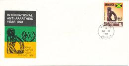 Jamaica FDC 11-12-1978 International Anti Apartheid Year 1978 With Cachet - Jamaica (1962-...)